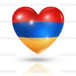 Love Armenia, heart flag icon